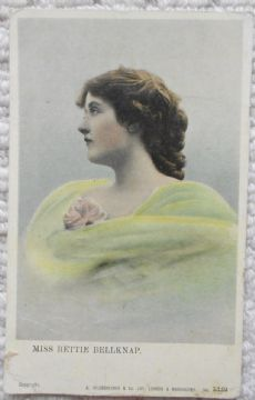 Miss Bettie Bellknapp, Vintage Postcard, Actress, 1906